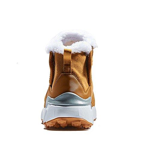 Rax Dames Enkel Waterdicht Winter Snowboots Met Bont Gevoerde Warme Booties Schoenen Kameel