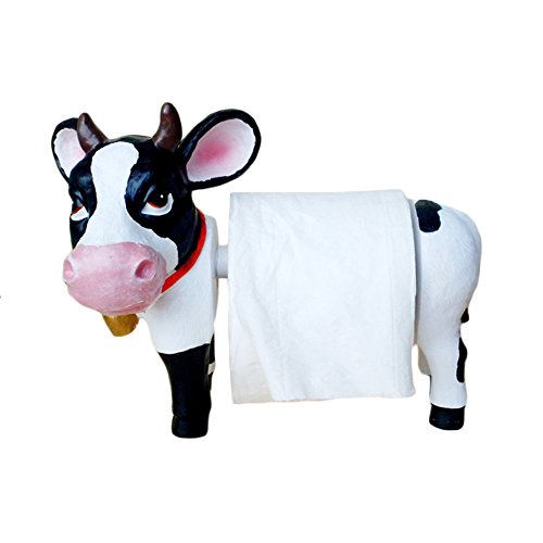 Home-organizer Tech Resin Cow Toilet Bathroom Paper