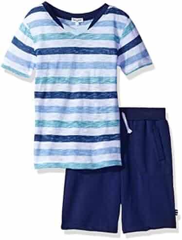 Splendid Boys' Striped Short Sleeve with Pant Set
