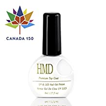 Canada Free Shipping HMD Soak Off UV LED mirror shine NO WIPE top coat gel nail polish fast cure fast shipping 8ml