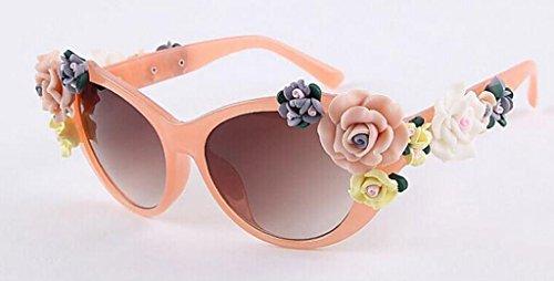 gafas Gafas Moda Mujeres Flores sol Rosas 6 de sol Color de Barroco Gafas 5 X521 sol de Gafas QQB p8qdp