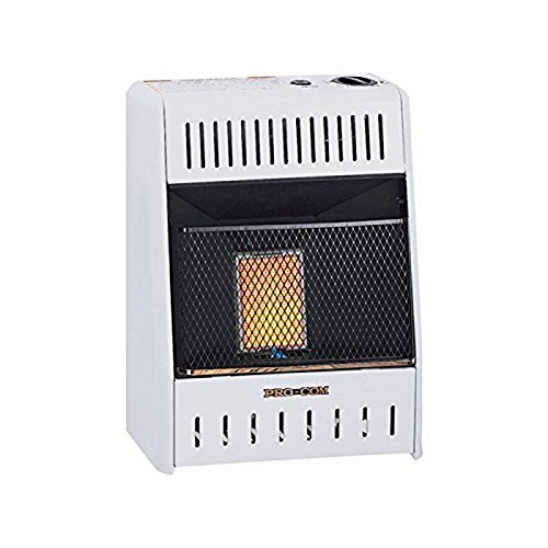 ProCom Heating Ventless Plaque INC MN060HPA 6,000 BTU Natural Gas Infrared Wall Heater, White by ProCom Heating