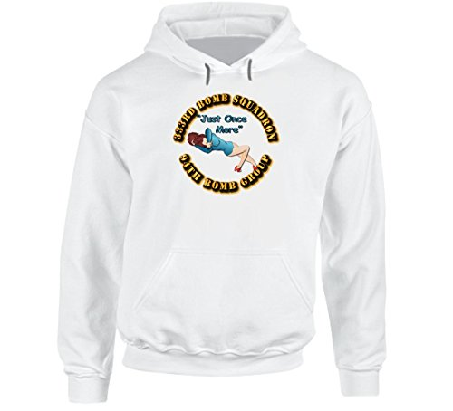 LARGE - AAC - 333rd Bomb Squadron - 94BG - Just Once More Hoodie - White (Operation Storm 333)