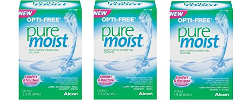Alcon Puremoist Multi-Purpose Disinfecting Solution 2 Oz Travel Size (Pack Of 3)