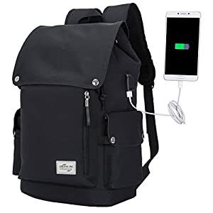 Laptop Backpack with USB Charging Port, Water Resistant Travel Bag School Bag Anti-scratch Backpack for 15.6 Inch Laptop