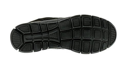 Hombre Parte Superior de malla, Ligero Cordones Zapatillas running color bloque, súper ligero Phylon Suela Unidad - Negro - GB Tallas 7-11