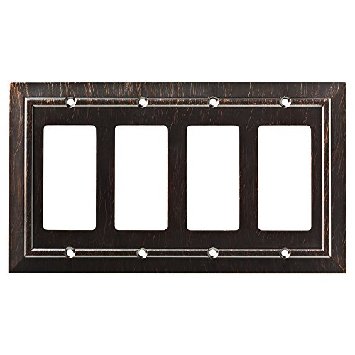 picture of Franklin Brass W35228-VBR-C Classic Architecture Quad Decorator Wall Plate/Switch Plate/Cover, Venetian Bronze