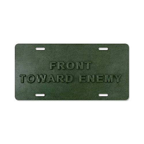CafePress - Claymore Mine Instructions Aluminum License Plate - Aluminum License Plate, Front License Plate, Vanity Tag - Infantry License Plate