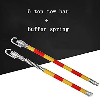 Heavy Duty 5 Ton Car Recovery Tow Pole 1.8M with Buffer Spring Towing Bar Pulls Car Emergency Breakdown Tow Bar