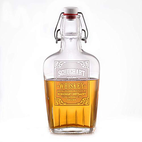 Personalized Engraved Flask, Engraved Whiskey Bottle, Bourbon, Scotch Gifts for Men
