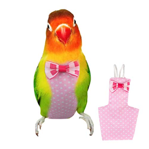 Cute Parrot vest clothes Fashion outdoor Pets Decoration small pets Urine Pad M, Yellow Parrot Pee Pad Diaper,Parrot Flight Suit Apparel Keep parrot and house clean and no odorous smell
