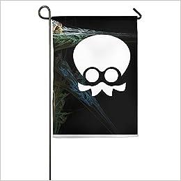 splatoon squid logo home garden flags white amazon com books amazon com