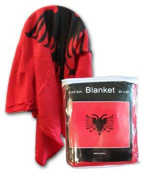 "Albania - 50"" x 60"" Polar Fleece Blanket"