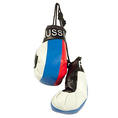 2 Boxhandschuhe Russia fü rs Auto Russland Anhä nger legro