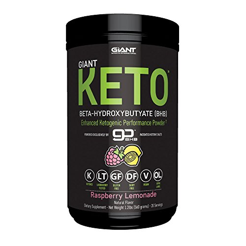 Giant Keto-Exogenous Ketones Supplement - Beta-Hydroxybutyrate Keto Powder Designed to Support Your Ketogenic Diet, Boost Energy and Burn Fat in Ketosis - Raspberry Lemonade - 20 servings