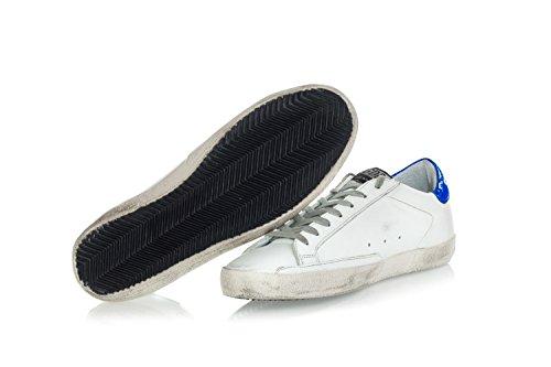 Gouden Gans Heren Schoenen Sneakers In Leer Met Fluo Ster Superstar Wit