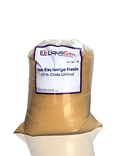 LiquaGen (1/2 CU FT) - Higher Grade Ion Exchange Resin Cation for Water Softeners + FREE Resin Loading Funnel