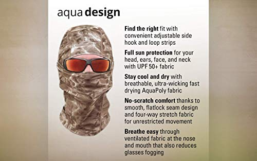 Aqua Design: Cool Weather Mens Face Mask UPF50+ Sun Wind Helmet Liner Balaclava: Aqua Sky by Aqua Design (Image #4)