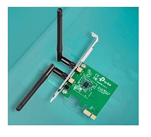 New: TP-Link TL-WN881ND - WIFI Adaptador PCI Express, Tarjeta de Red (300 Mbps, 2.4 GHz, 802.11n/g/b, 2 antenas desmontables), para Raspberry Pi, PC ...