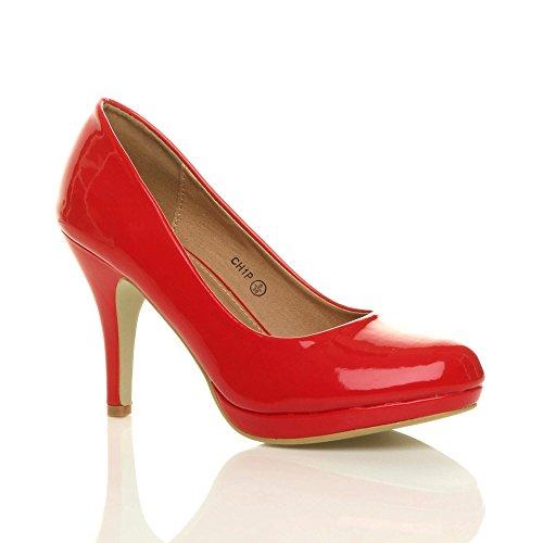 Perfectos Para De Muy Zapatos Rotes Leder Elegantes Mediano Fiestas Tacón txdvg