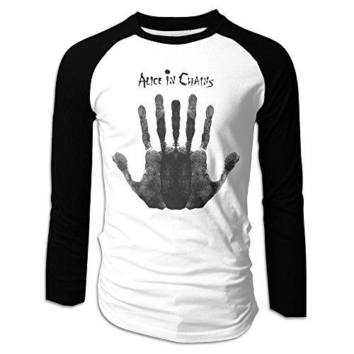 AIJFW American Rock Band Men's Crewneck Raglan Baseball T-Shirt S (Halloween In Indiana)
