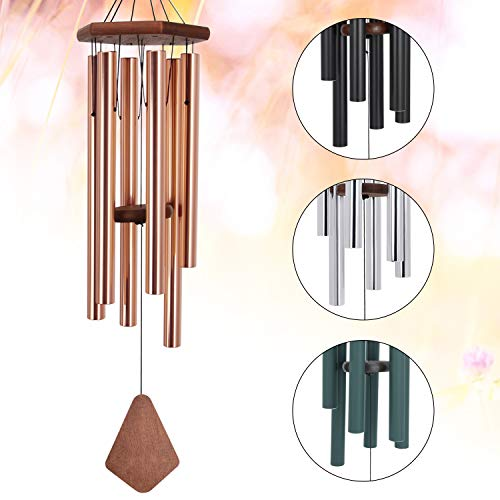 Amazing Grace Wind Chimes Large,36Inch Sympathy Wind Chime Outdoor Deep Tone with 6 Beautiful Tubes,Perfect Memorial Wind Chime for Mom Women Girls, Rose Golden(A Free Card)
