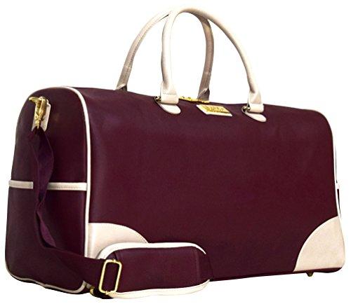 Nicole Miller Sharon City Duffel Bags (Burgundy)