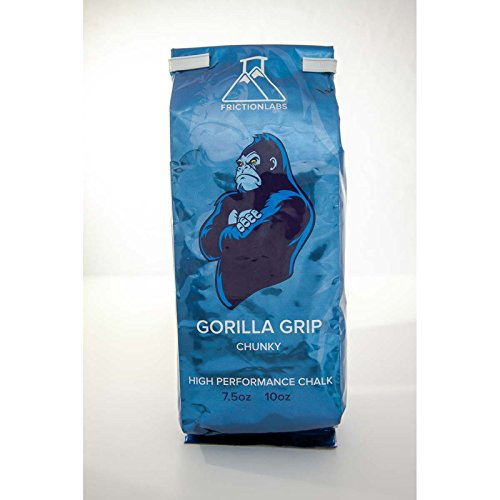 FrictionLabs Gorilla Grip 10oz (283g) - Chunky Texture - The New Standard in Chalk for Rock Climbing, Crossfit, and Powerlifting