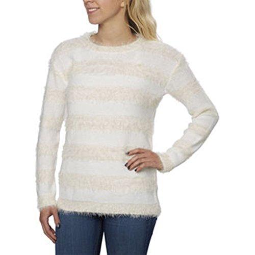 Joseph A. Ladies' Eyelash Sweater, Cream Stripe, Medium