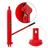 PNPGlobal 8 Ton Long Manual Hydraulic Ram Jack Pump Engine Lift Hoist Safety Factory Load Tested