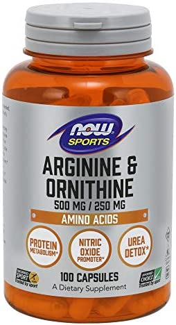 NOW Sports – Arginine Ornithine 500 250-100 Capsules by NOW
