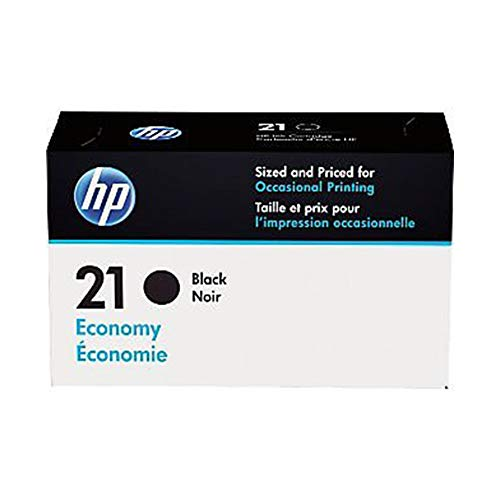 HP 21 | Ink Cartridge | Black | Economy Size | B3B18AN (Hp 21 Black Inkjet Print Cartridge C9351a)
