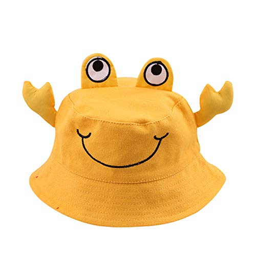 (Baby Hat Sun Protection-Waymine Kids Boy Girls Cartoon Frog Animal Sunhat Fisherman Cap)