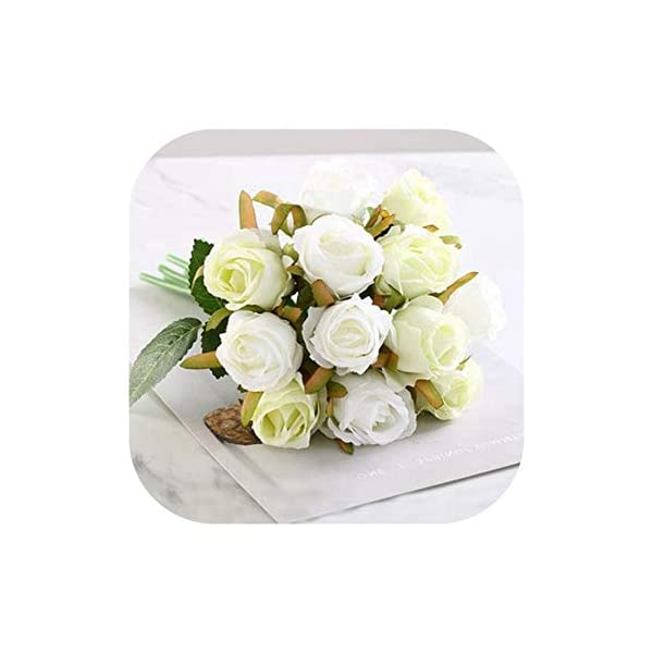 mamamoo Wedding Bouquet Roses Artificial Bridal Bouquets Wedding Accessories Bridesmaids Flowers Mariage Supplies Wedding Bouquet,White Green Bouquet
