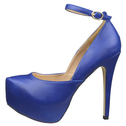 Plate-forme Pour Femmes Chaussures Sexy Scoop Vamp Haute Talon Robe Chaussures Bleu Bleu
