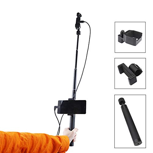 - RCGEEK Extension Rod Expansion Kit Accessories Extender Rod Stick Aluminum Adjustable with Phone Mount, 1/4 Screw Osmo Pocket Mount, 3 Pack