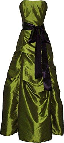 Bridesmaid Prom Long Dress, 3X, Olive-Green