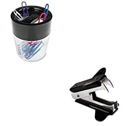KITUNV00700VPUNV08126 - Value Kit - Universal Jaw Style Staple Remover (UNV00700VP) and Universal Magnetic Clip Dispenser (UNV08126)