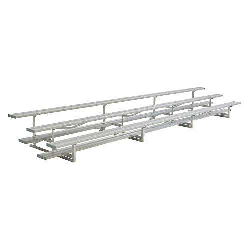 National Recreation Systems - NB-0321ASTD - 21 ft. Bleacher with 42 Seats in 3 Rows, Aluminum