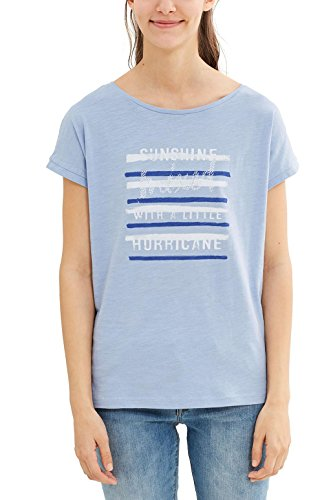 edc by Esprit, Camiseta para Mujer Azul (Light Blue Lavender)