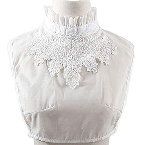 lace insert blouse - 1