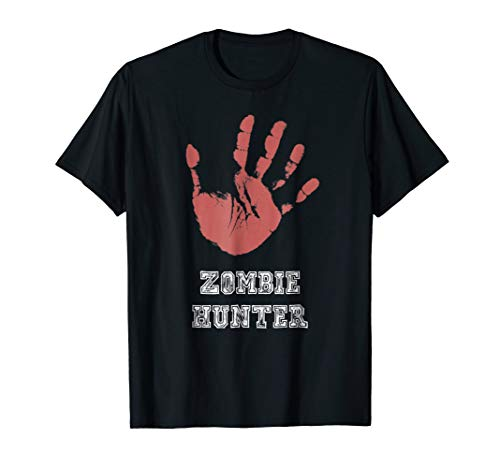 Zombie Hunter T Shirt funny and scary halloween costume ()