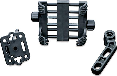 (Kuryakyn 1676 Motorcycle Accessory: Clutch/Brake Perch Mount Tech-Connect Cradle GPS Device/Phone Holder Mounting Kit, Large, Black)
