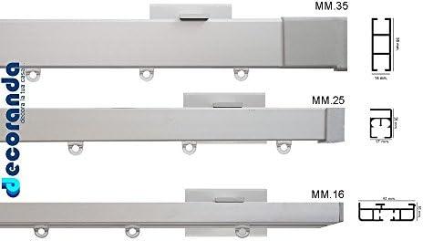 Gardinenstange Flach Und Eckig Aus Aluminium 360 Parete