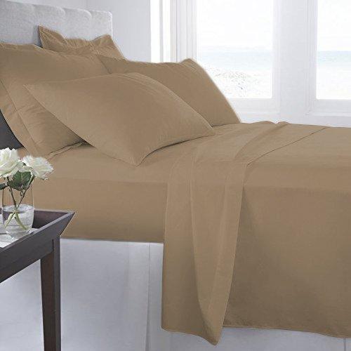 Thread Spread Bedding Collection 100% Egyptian Cotton Sateen 600 Thread Count Sheet Set Full - Sand ()