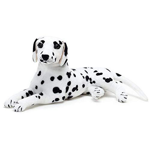 ERDAO Realistic Stuffed Animal Dog,Dalmatian Plush Toys Stuffed Puppy Doll, 19.6 inch (Shaped Puppy Pillow)