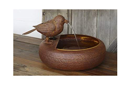 Folk Art Little Bird Fountain by Farmhouse Lane