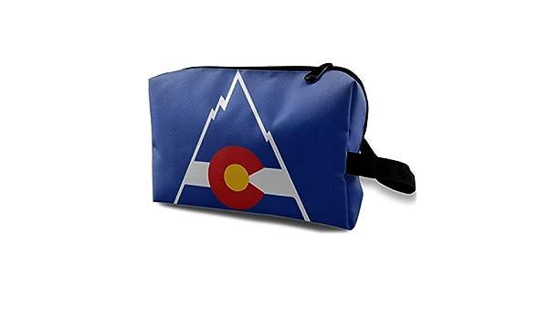 923d0bcbd6c9 Amazon.com: Pink Dola Colorado Flag Standie 3PCS Travel Makeup Bag ...