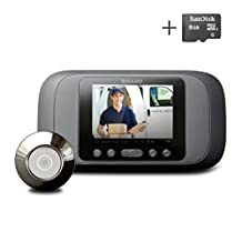 Best Selling Peephole Viewer - Eques Digital Door Viewer - LCD Security Camera Monitor Video Record Photo Shooting