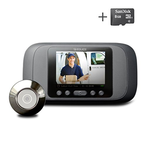 Eques Digital Door Viewer - LCD Security Camera Monitor Video Record Photo Shooting (No Night Vision, No PIR Motion Sensor)